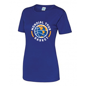T-shirt polyester Femme Mondial Basket Tour