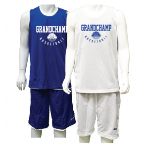 Ensemble Reversible royal et blanc Grandchamp Basketball