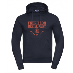 Sweat Russel navy marquage rouge Frepillon Basket