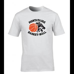 T-shirt Blanc Montataire Basket