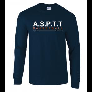 T-shirt Navy manches longues ASPTT Boulogne