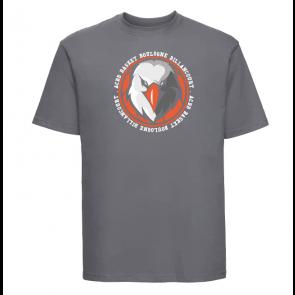 T-shirt Gris foncé Unisexe logo rond ACBB Basket