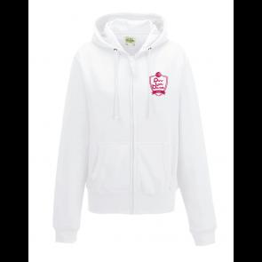 Veste Blanche capuche logo coeur PLB