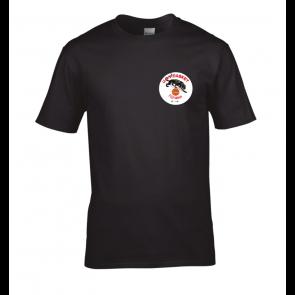 T-shirt manches courtes Noir logo coeur UST BASKET
