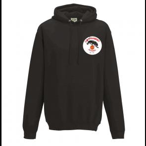 Sweat capuche Noir logo coeur UST BASKET