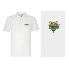 Polo Polyester Blanc J'Swing Golf