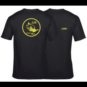T-shirt coton unisexe noir J.J Rousseau