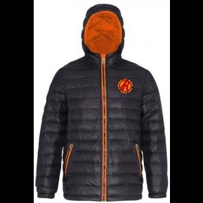 Doudoune noir et orange RFO