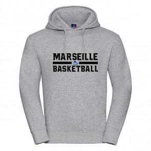 Sweat Russel Gris Marseille Basketball