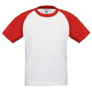 T-shirt manches courtes contrasté B&C Enfant