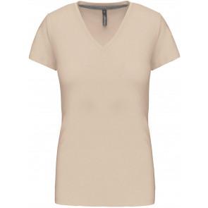 T-shirt manches courtes Col V Kariban Femme